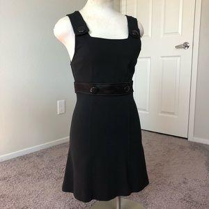 Bebe Bibbed Black Mini Dress